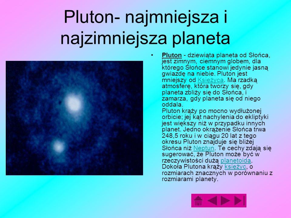 Neptun Neptun jest ósmą planetą od Słońca, czwartą z gazowych planet- olbrzymów.