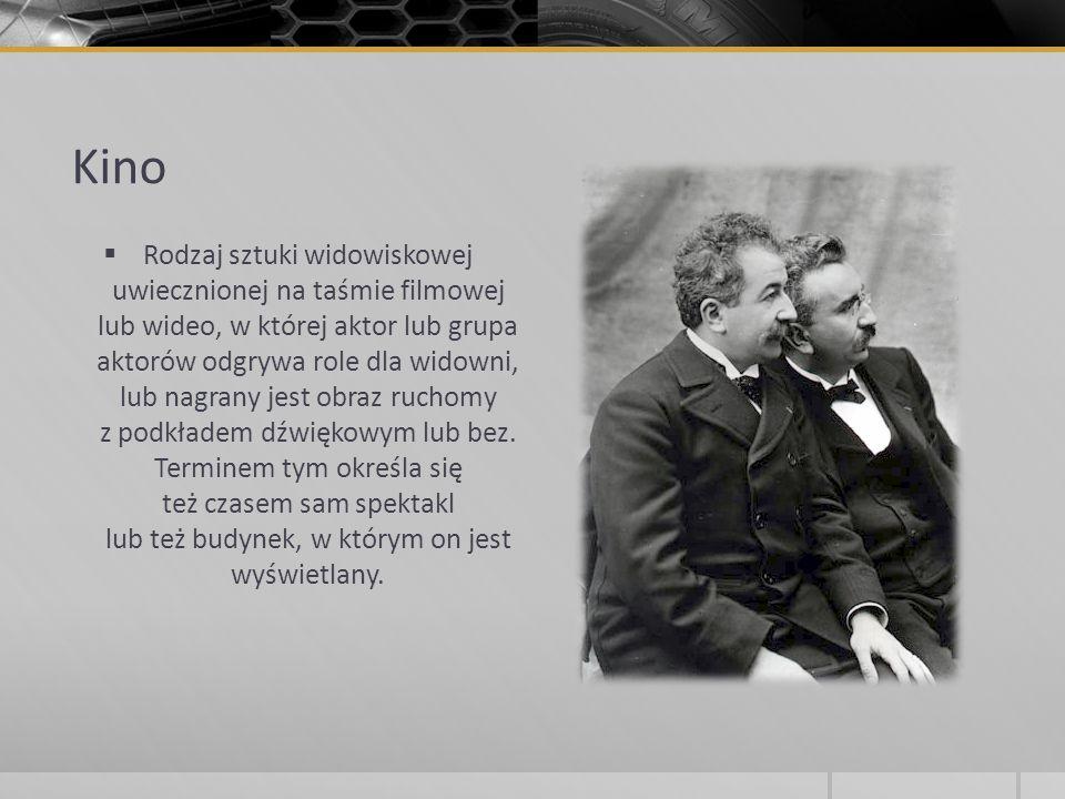 Najwcześniejsze urządzenia będące przodkami kinematograficznych to camera obscura i laterna magica (latarnia czarnoksięska).
