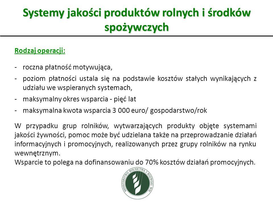 Systemy jakości produktów rolnych i środków spożywczych.