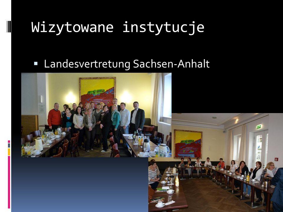 Wizytowane instytucje Landesvertretung Sachsen-Anhalt