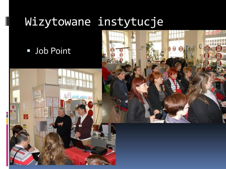 Wizytowane instytucje Job Point