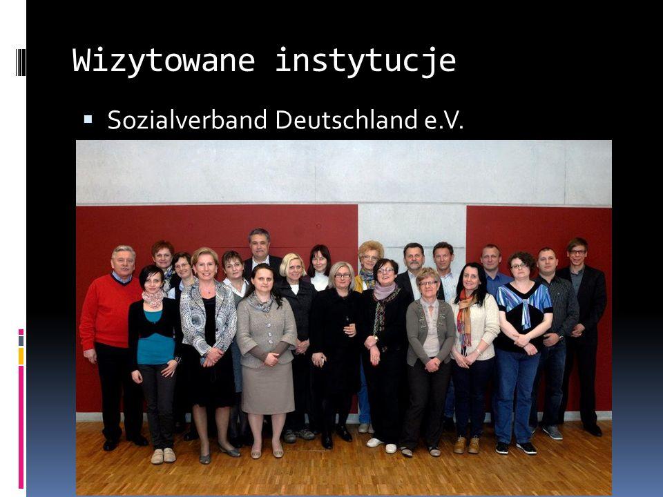 Wizytowane instytucje Sozialverband Deutschland e.V.