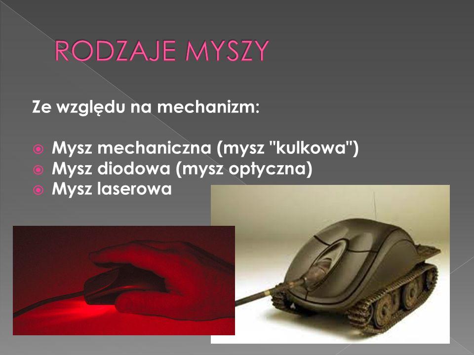 Ze względu na mechanizm: Mysz mechaniczna (mysz