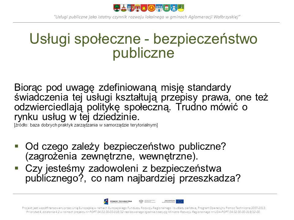 Usługi publiczne jako istotny czynnik rozwoju lokalnego w gminach Aglomeracji Wałbrzyskiej Cele, rodzaje, charakterystyka technicznych usług publicznych Wałbrzych, 10.12.