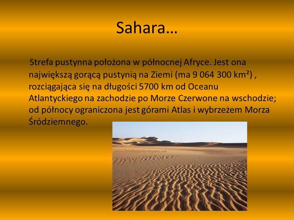 Znajduje się na terenach… Znajduje się na terytoriach 11 państw: Maroka, Algierii, Tunezji, Libii, Egiptu, Sahary Zachodniej, Mauretanii, Mali, Nigru, Czadu i Sudanu.