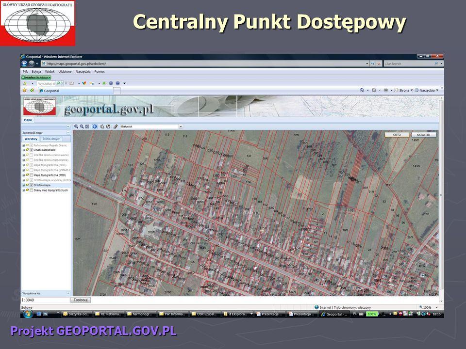 Projekt GEOPORTAL.GOV.PL Centralny Punkt Dostępowy