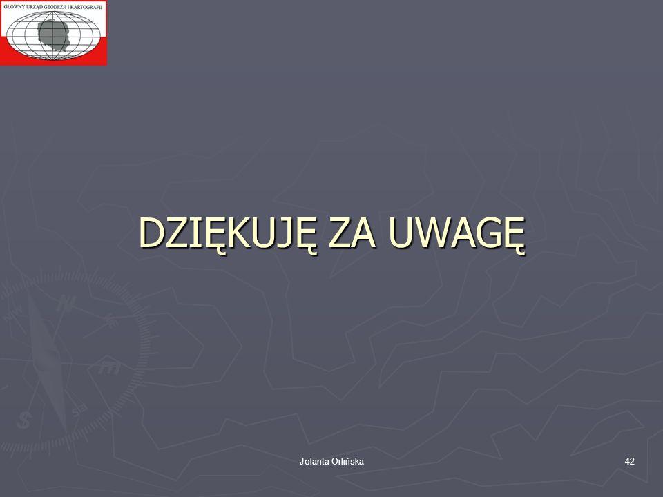 Jolanta Orlińska42 DZIĘKUJĘ ZA UWAGĘ