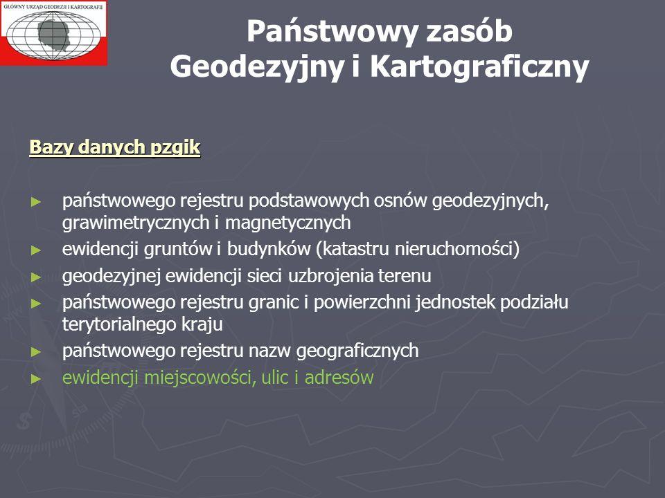 Bazy danych pzgik państwowego rejestru podstawowych osnów geodezyjnych, grawimetrycznych i magnetycznych ewidencji gruntów i budynków (katastru nieruc