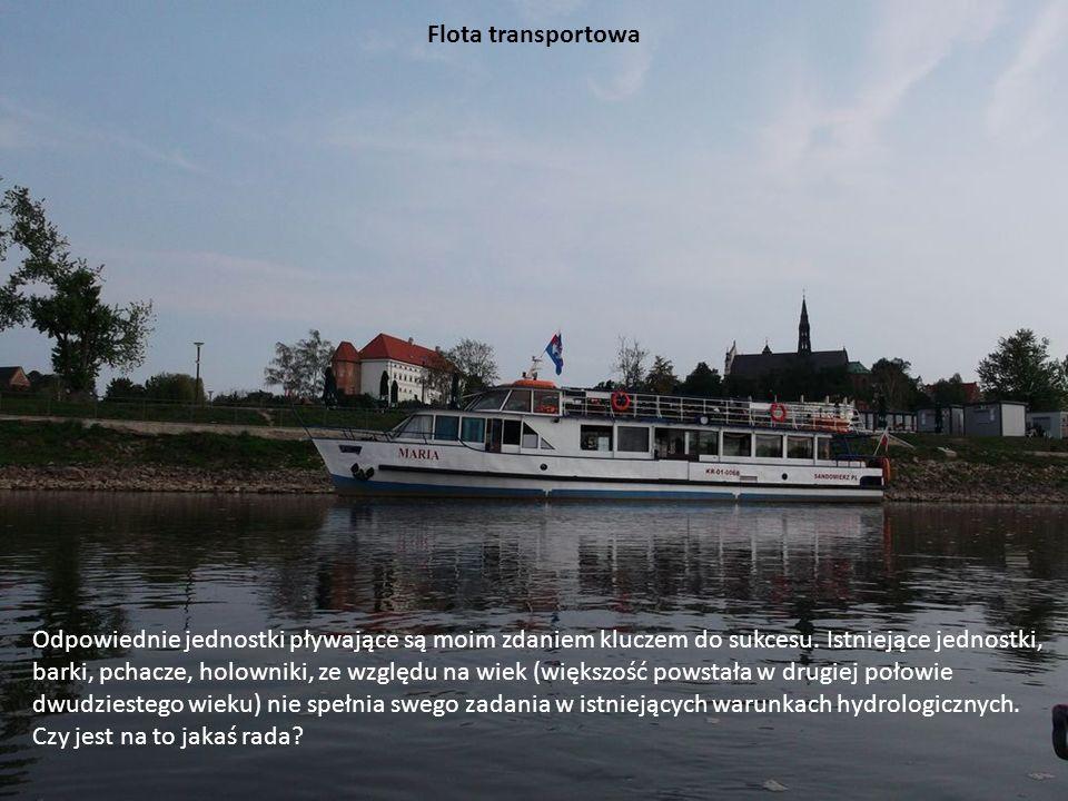 Flota transportowa Odpowiednie jednostki pływające są moim zdaniem kluczem do sukcesu. Istniejące jednostki, barki, pchacze, holowniki, ze względu na