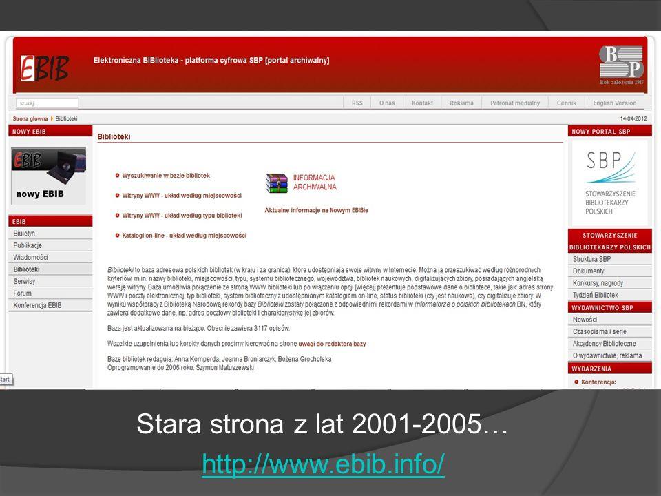 Stara strona z lat 2001-2005… http://www.ebib.info/