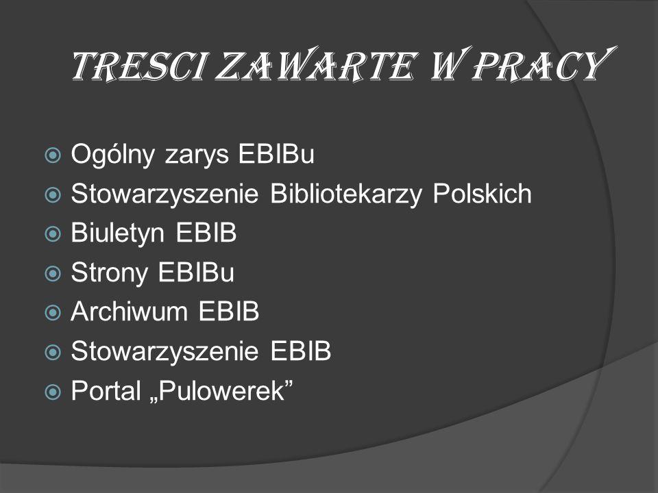 EBIB posiada dwie strony.