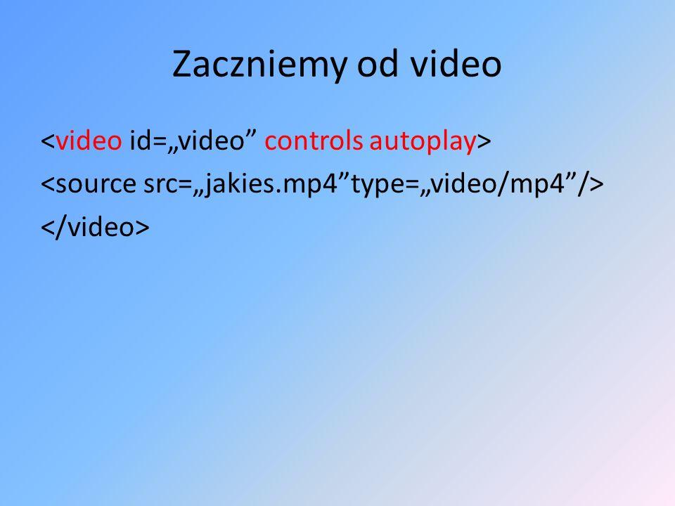 Zaczniemy od video