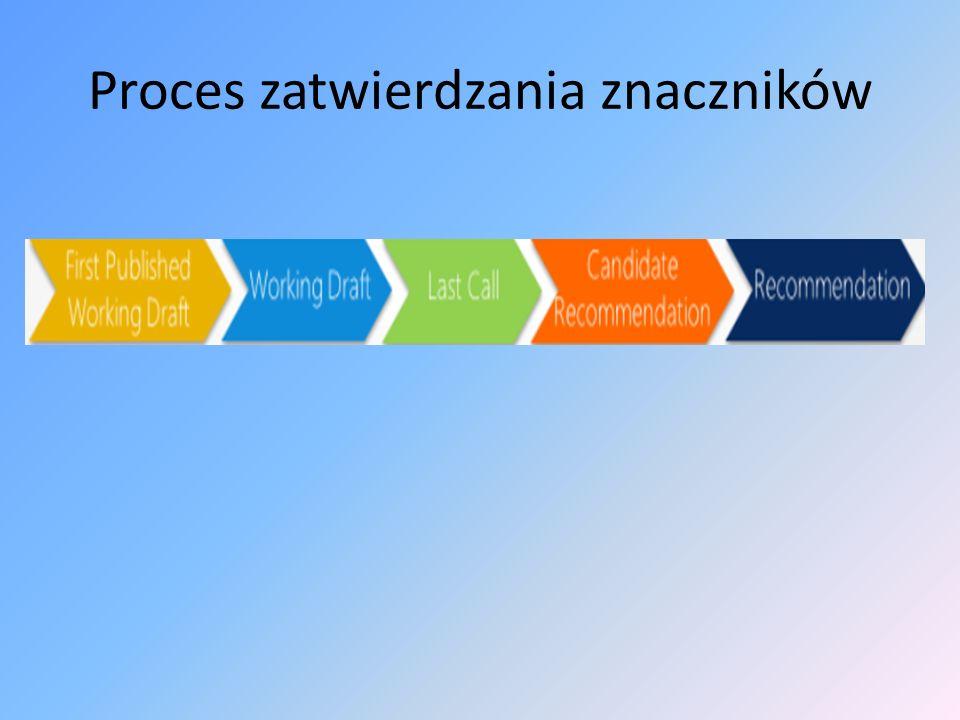 Proces zatwierdzania znaczników