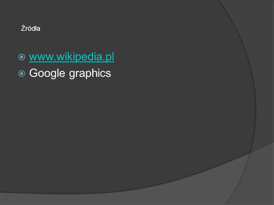www.wikipedia.pl Google graphics Źródła