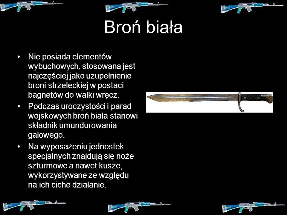 Spis treści: Broń biała Broń palna Broń strzelecka Broń artyleryjska Test
