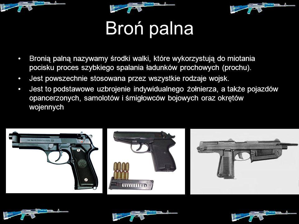 Broń biała Nie posiada elementów wybuchowych, stosowana jest najczęściej jako uzupełnienie broni strzeleckiej w postaci bagnetów do walki wręcz. Podcz