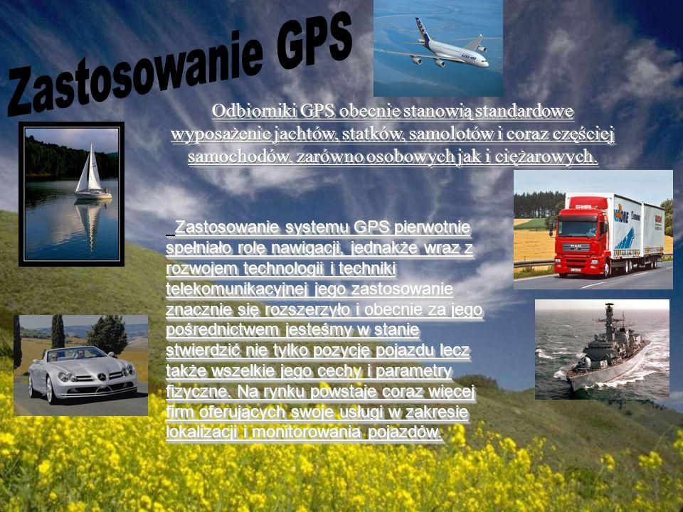 Zastosowanie systemu GPS pierwotnie spełniało rolę nawigacji, jednakże wraz z rozwojem technologii i techniki telekomunikacyjnej jego zastosowanie zna