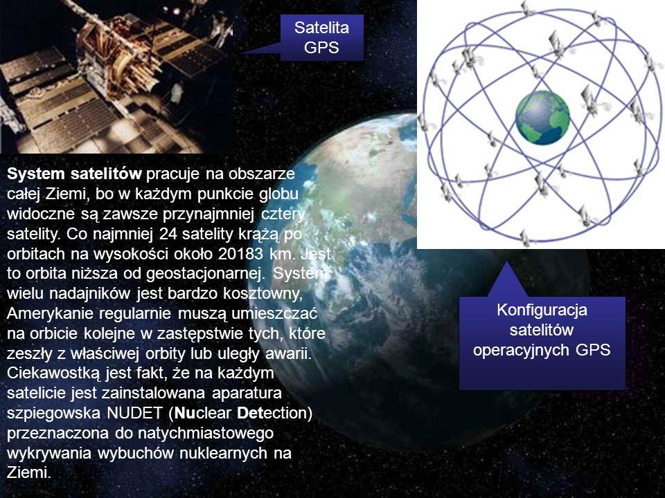 System satelitów pracuje na obszarze całej Ziemi, bo w każdym punkcie globu widoczne są zawsze przynajmniej cztery satelity. Co najmniej 24 satelity k