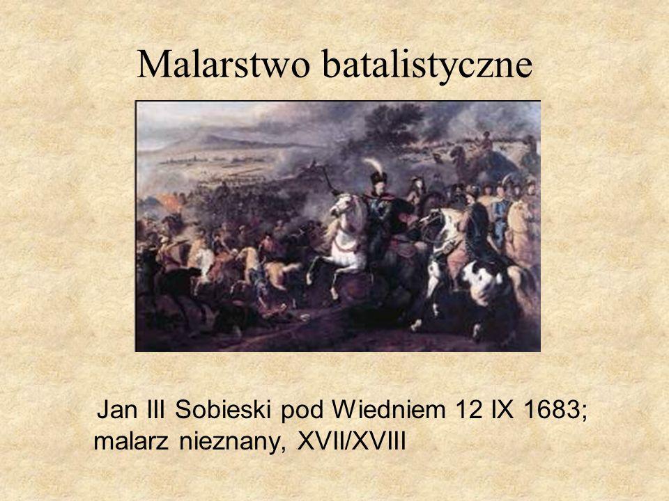 Malarstwo batalistyczne Jan III Sobieski pod Wiedniem 12 IX 1683; malarz nieznany, XVII/XVIII