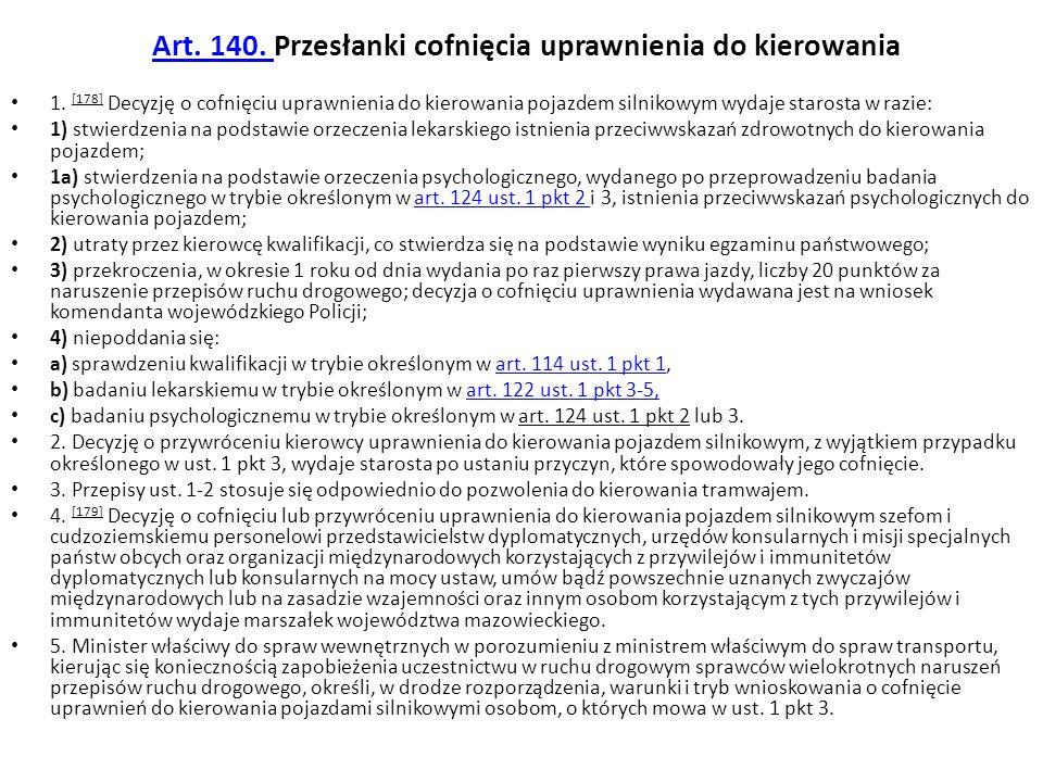 Art.140a. Zakaz powierzania zadań Zadania i kompetencje określone w art.