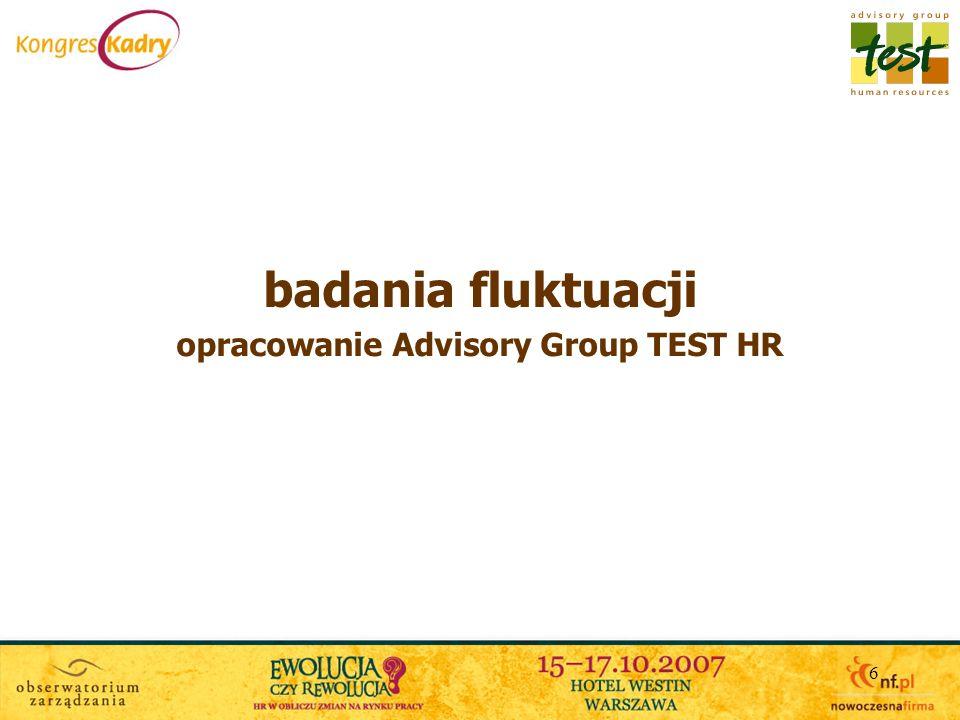 6 badania fluktuacji opracowanie Advisory Group TEST HR