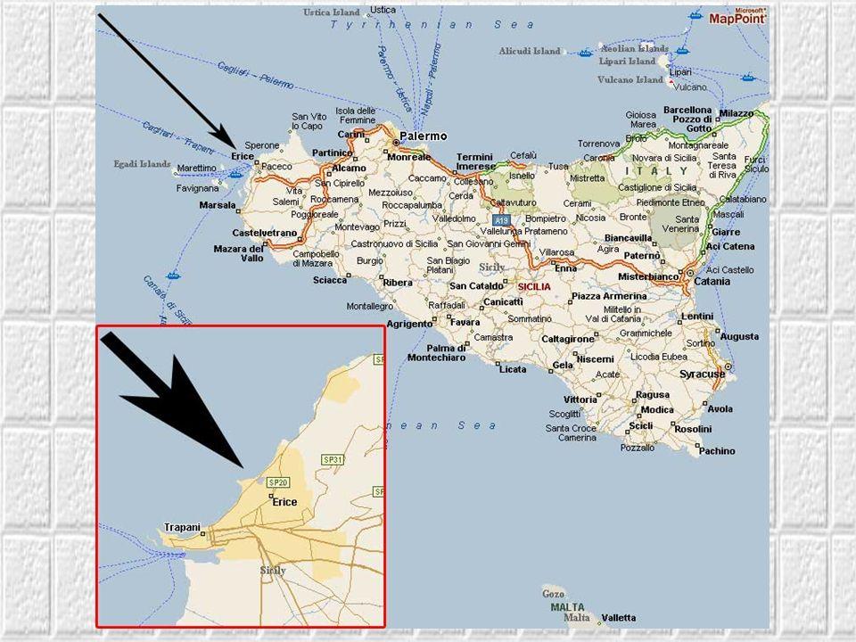 Erice to miasteczko i gmina w płn–zach.części Sycylii, w prowincji Trapani. Jest jednym z najbardziej urokliwych zakątków Sycylii Ta średniowieczna os