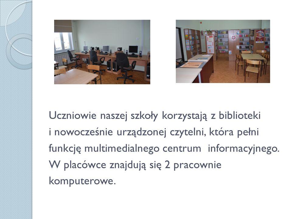 W godzinach od 07.00 do 16.15 szkoła umożliwia zajęcia świetlicowe.