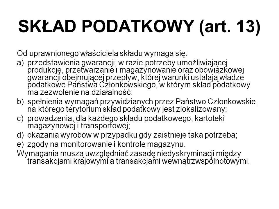 SKŁAD PODATKOWY (art.