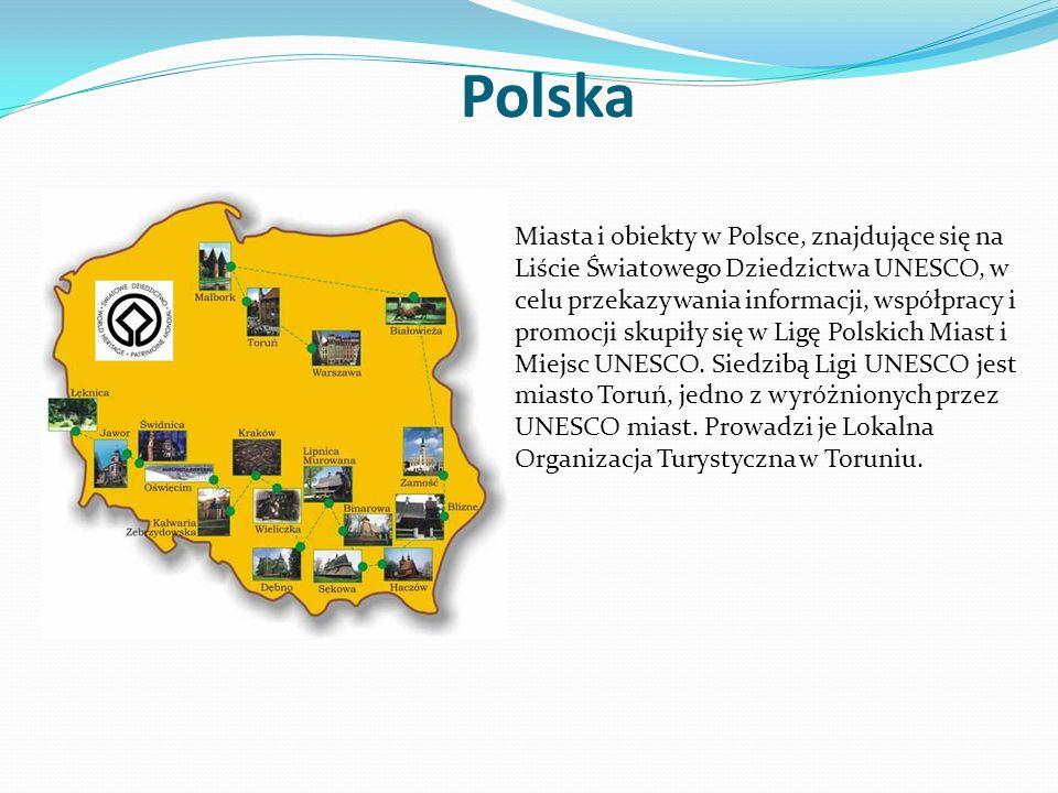 Polska Miasta i obiekty w Polsce, znajdujące się na Liście Światowego Dziedzictwa UNESCO, w celu przekazywania informacji, współpracy i promocji skupi