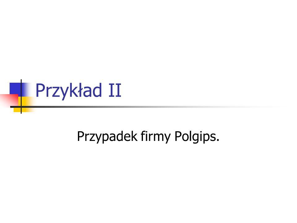 Przykład II Przypadek firmy Polgips.
