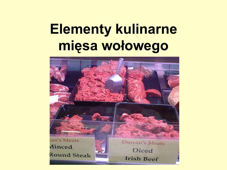 Elementy kulinarne mięsa wołowego