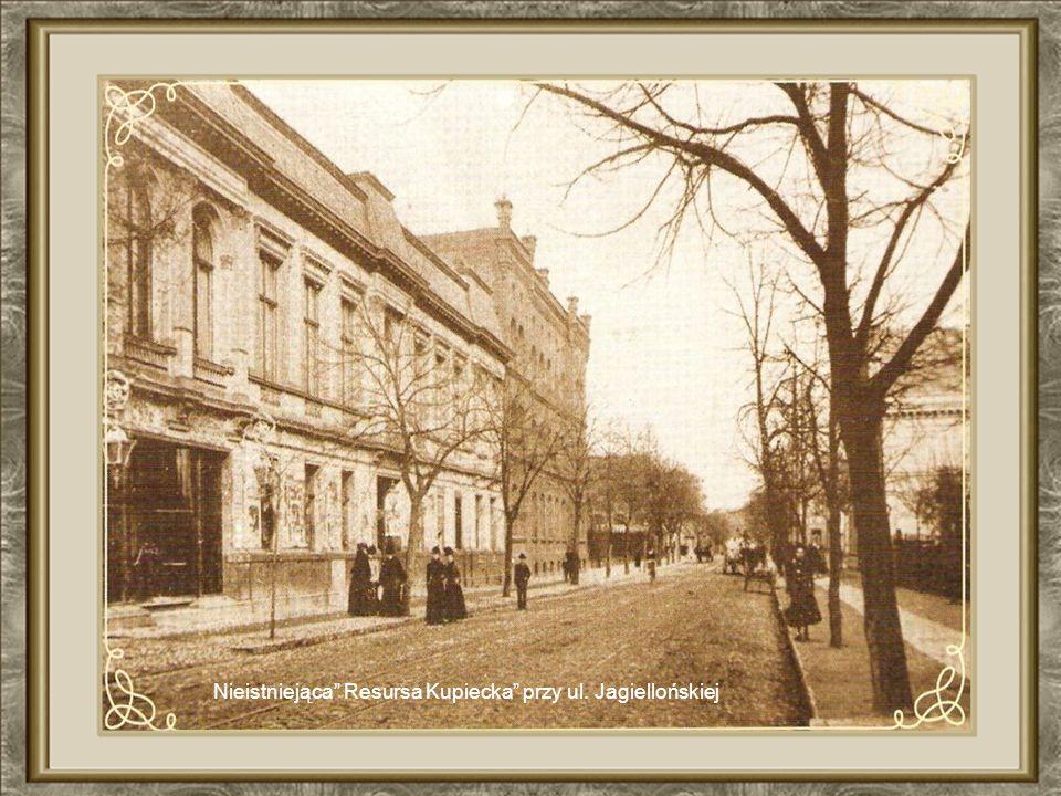 Ul. Jagiellońska – po lewej obecna siedziba NBP dalej budynek Poczty Polskiej