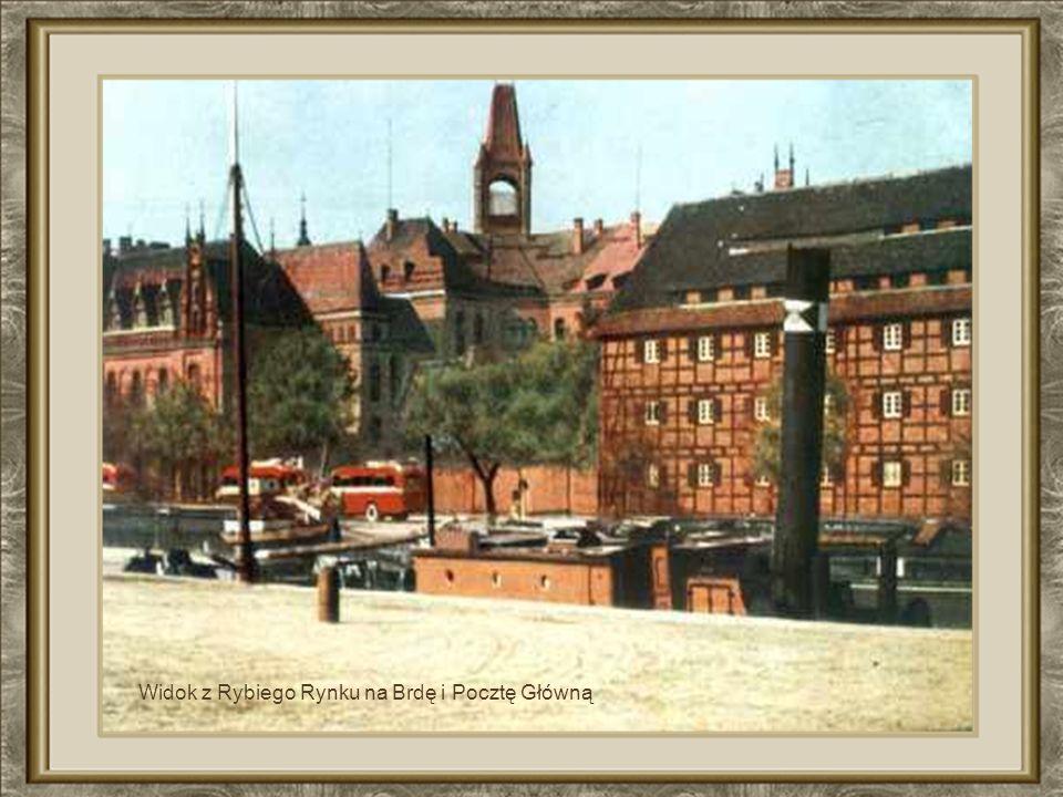 Widok na Farę i Brdę z budynku przy M. Focha XIX w.