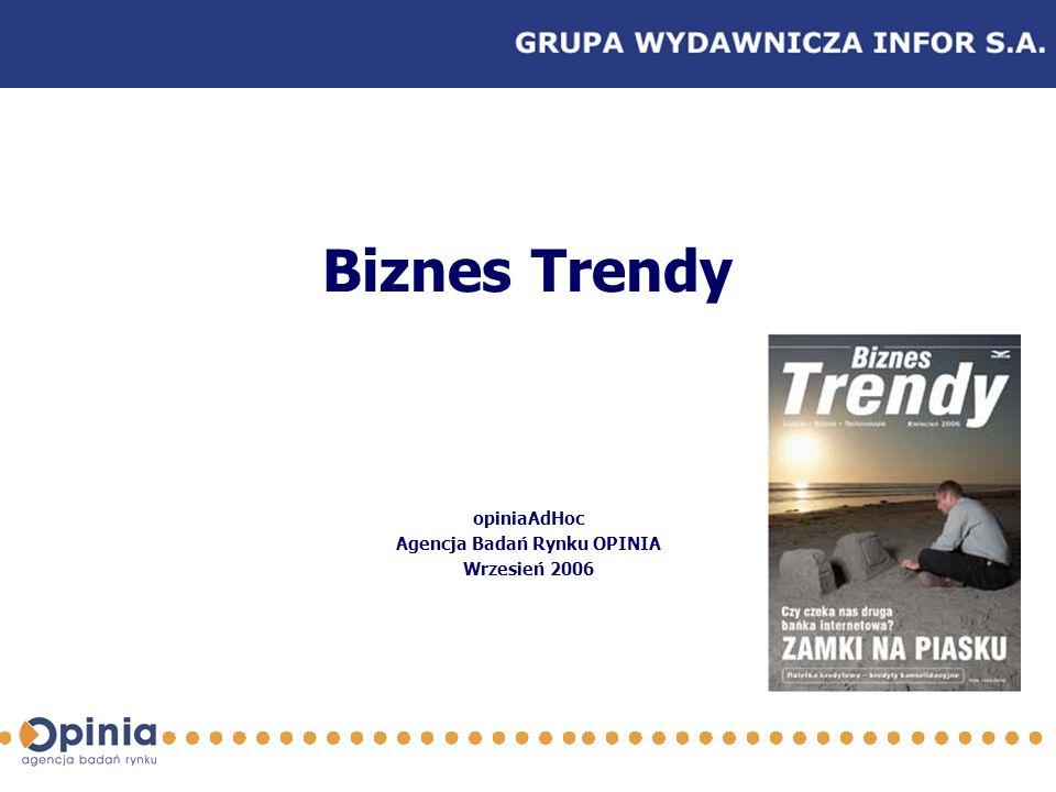 Biznes Trendy opiniaAdHoc Agencja Badań Rynku OPINIA Wrzesień 2006