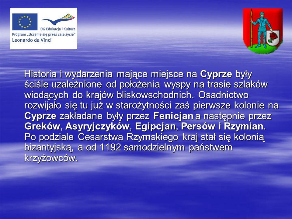 Cypr - Wyspa Afrodyty Cypr - Wyspa Afrodyty Cypr to wyspa Afrodyty bogini miłości nic więc dziwnego iż jest tu wiele zabytków jak, kościoły górskie oraz miasta, Kato Pafos, Palaepafos i Choirokitia należące do dziedzictwa UNESCO.