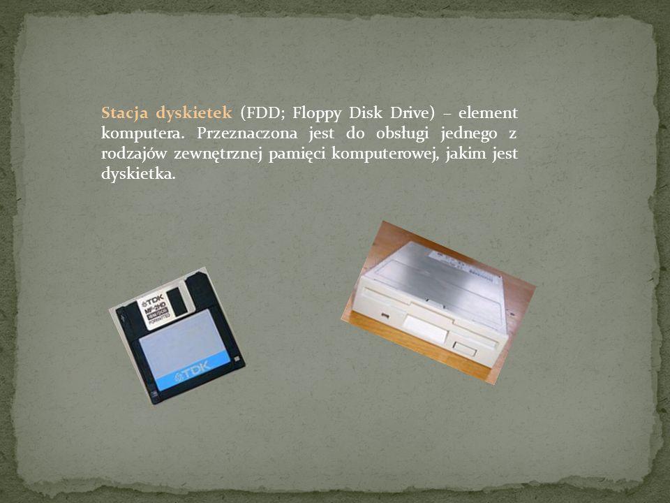 Stacja dyskietek (FDD; Floppy Disk Drive) – element komputera. Przeznaczona jest do obsługi jednego z rodzajów zewnętrznej pamięci komputerowej, jakim