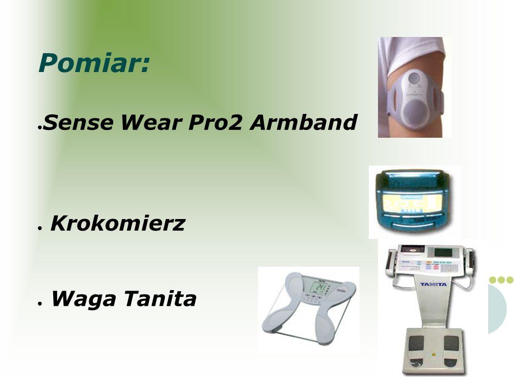 Pomiar: Sense Wear Pro2 Armband Krokomierz Waga Tanita