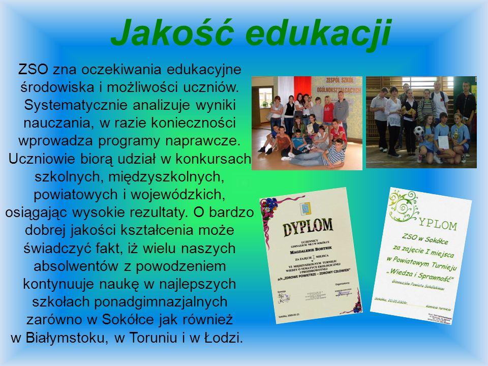 Nasze sukcesy Uczniowie ZSO odnoszą wiele sukcesów w różnorodnych konkursach i turniejach.