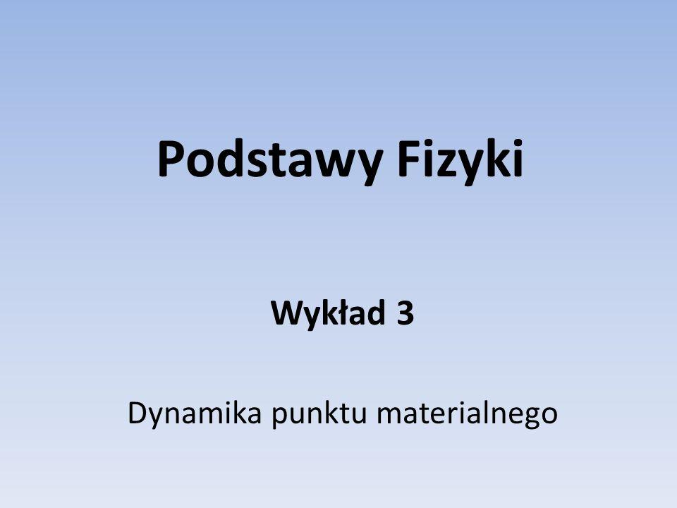 Podstawy Fizyki Wykład 3 Dynamika punktu materialnego
