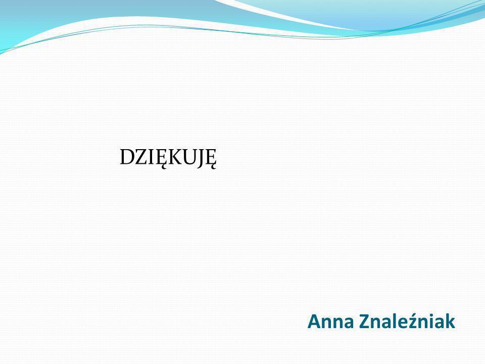 Anna Znaleźniak DZIĘKUJĘ