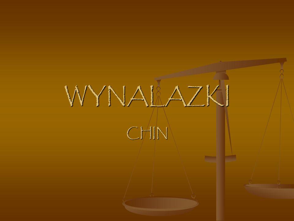 WYNALAZKI CHIN