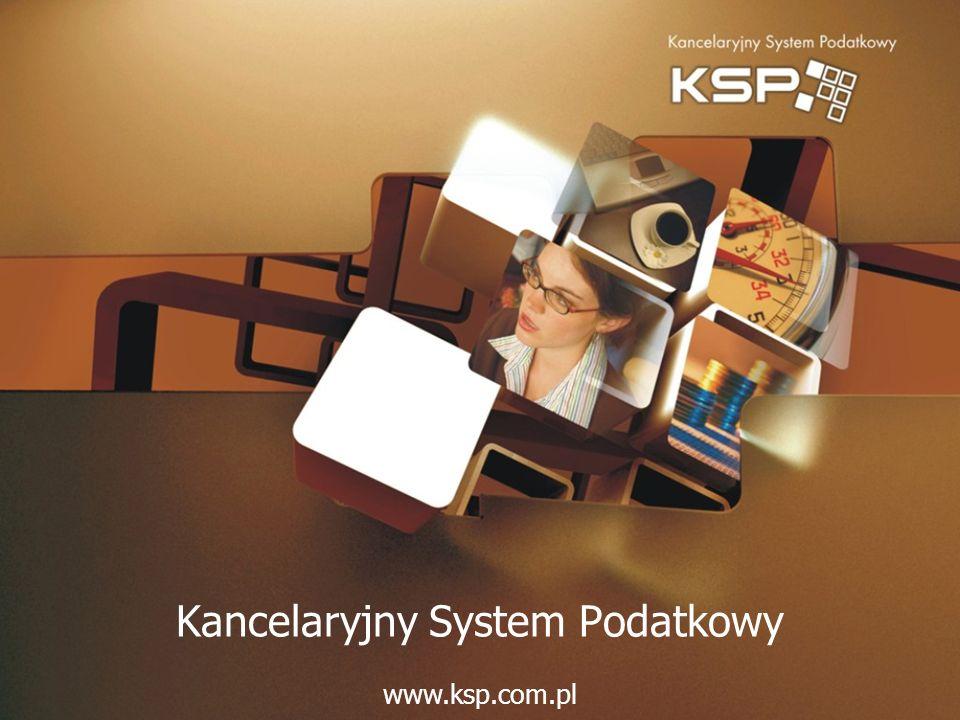 Kancelaryjny System Podatkowy www.ksp.com.pl