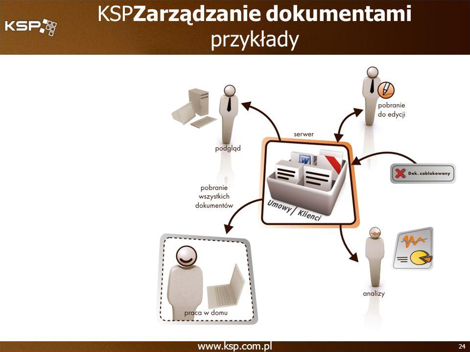 www.ksp.com.pl 24 KSPZarządzanie dokumentami przykłady