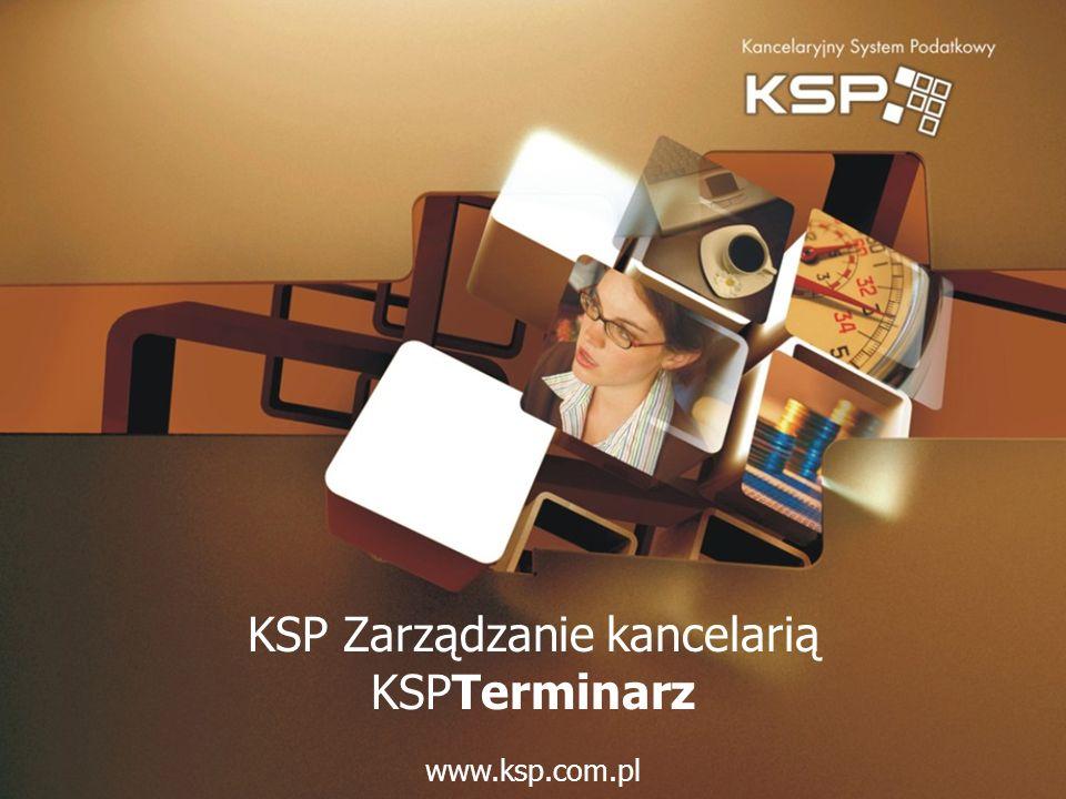 KSP Zarządzanie kancelarią KSPTerminarz www.ksp.com.pl