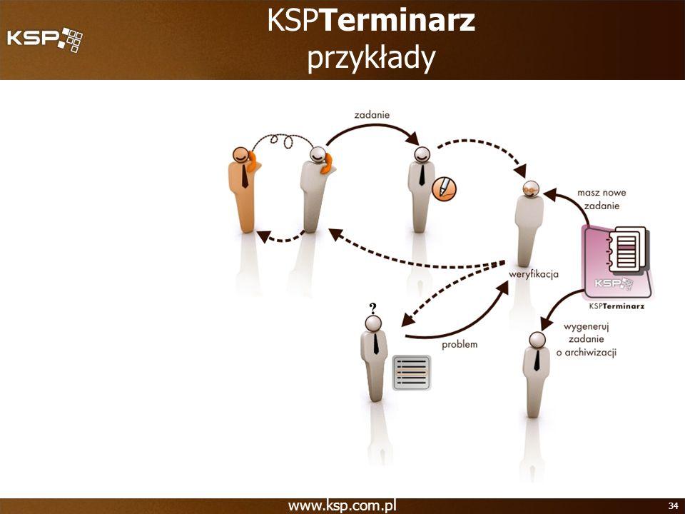 www.ksp.com.pl 34 KSPTerminarz przykłady