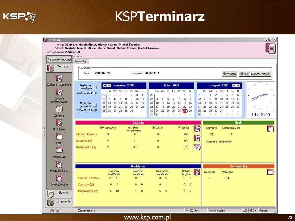 www.ksp.com.pl 73 KSPTerminarz