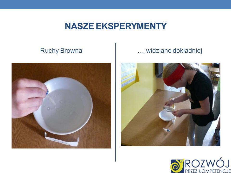 NASZE EKSPERYMENTY Ruchy Browna….widziane dokładniej