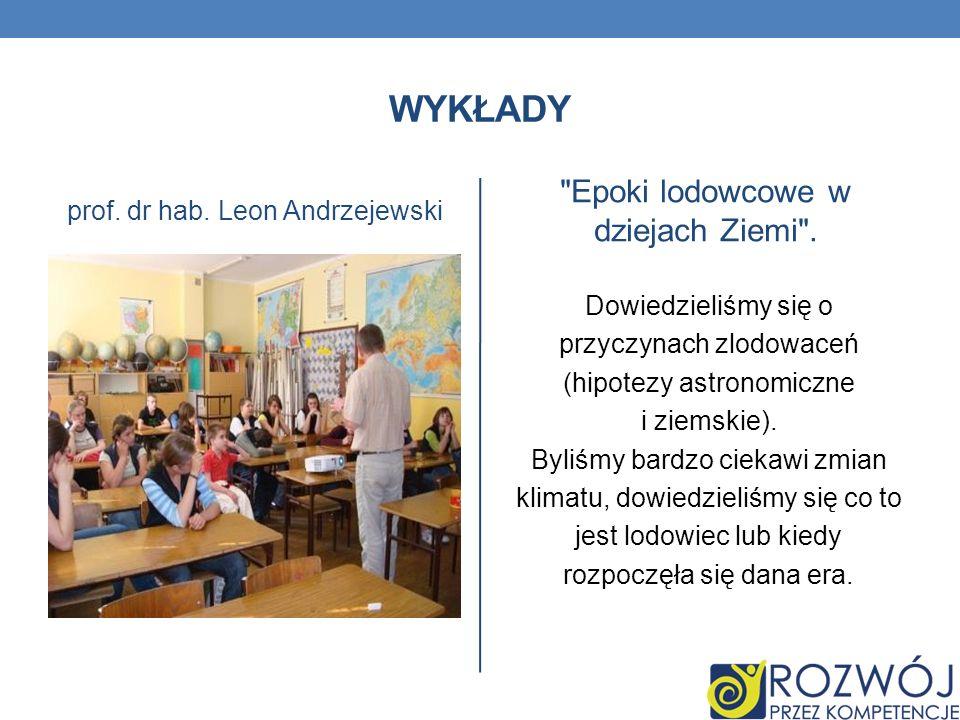 WYKŁADY prof. dr hab. Leon Andrzejewski