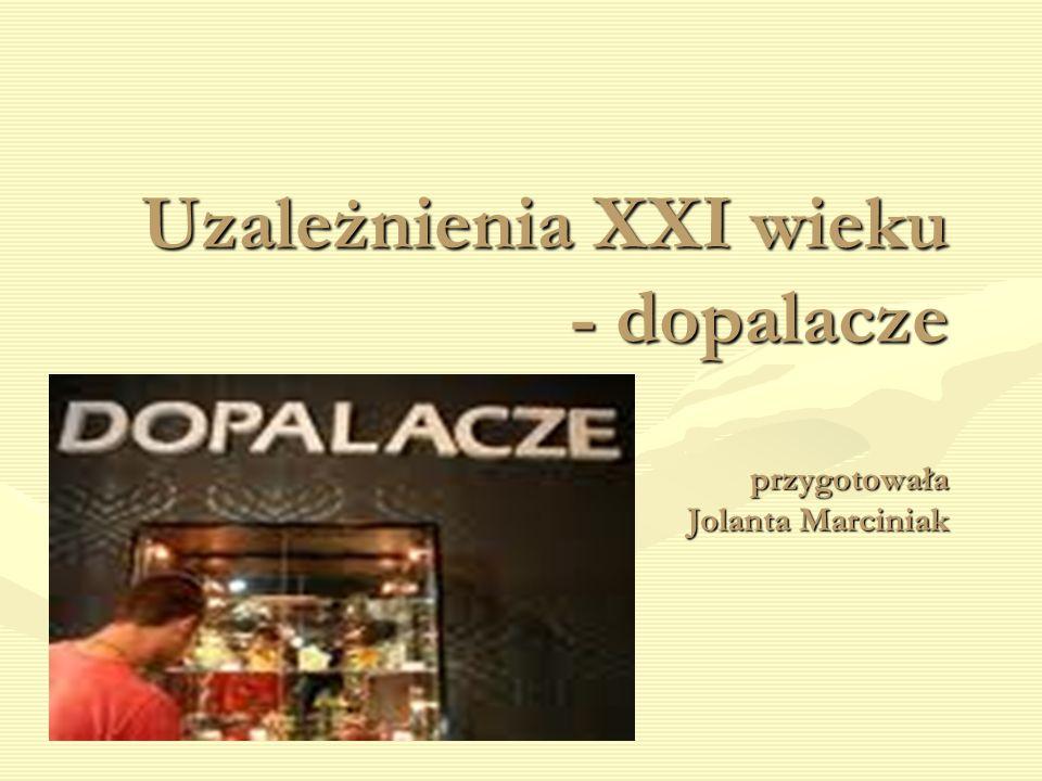 Uzależnienia XXI wieku - dopalacze przygotowała Jolanta Marciniak