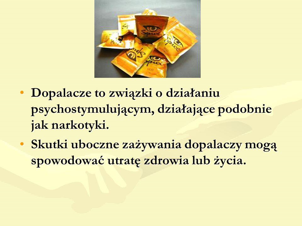 Dopalacze to związki o działaniu psychostymulującym, działające podobnie jak narkotyki.Dopalacze to związki o działaniu psychostymulującym, działające